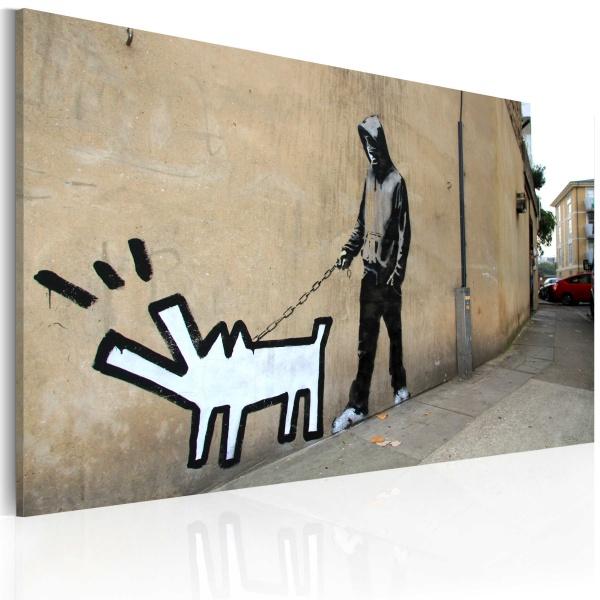 Obraz - Szczekający pies (Banksy) (60x40 cm) A0-N1816