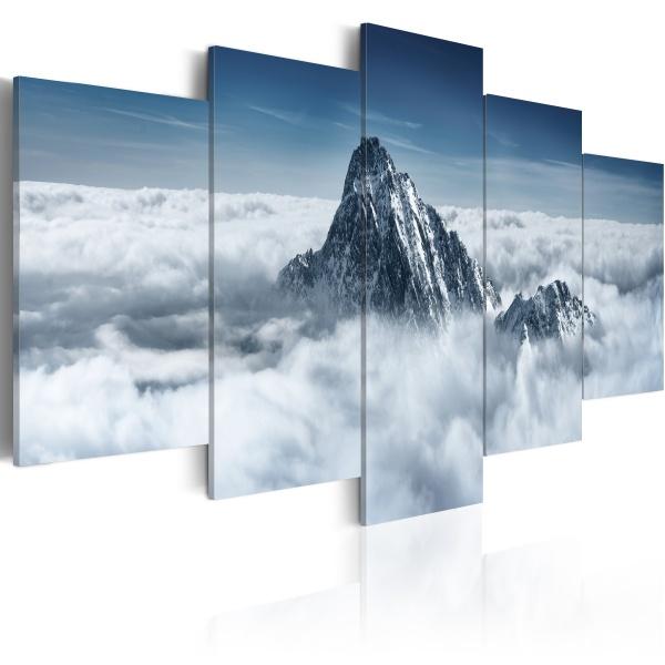 Obraz - Szczyt góry ponad chmurami (100x50 cm) A0-N1468