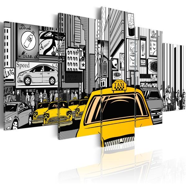 Obraz - Taksówka z komiksu (100x50 cm) A0-N1632