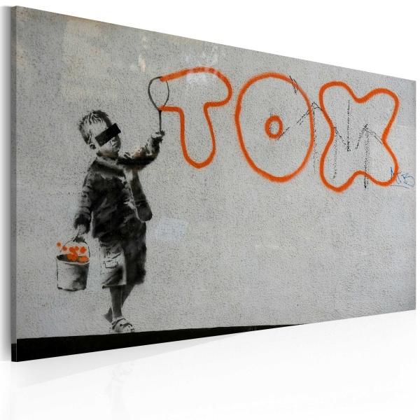 Obraz - Tapeta graffiti (Banksy) (60x40 cm) A0-N1808