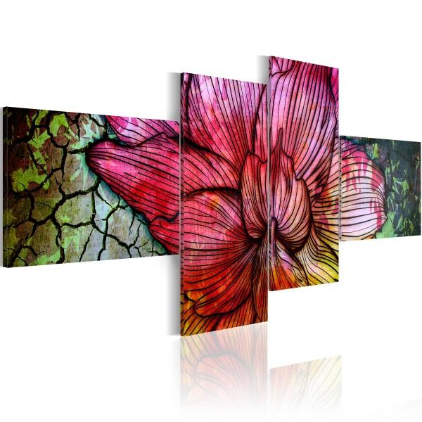 Obraz - Tęczowy kwiat (100x45 cm) A0-N1638