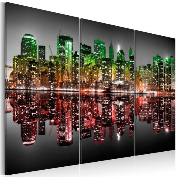 Obraz - Tęczowy Manhattan (60x40 cm) A0-N1735