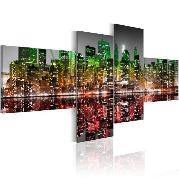 Obraz - Tęczowy widok na Nowy Jork (100x45 cm) A0-N1744