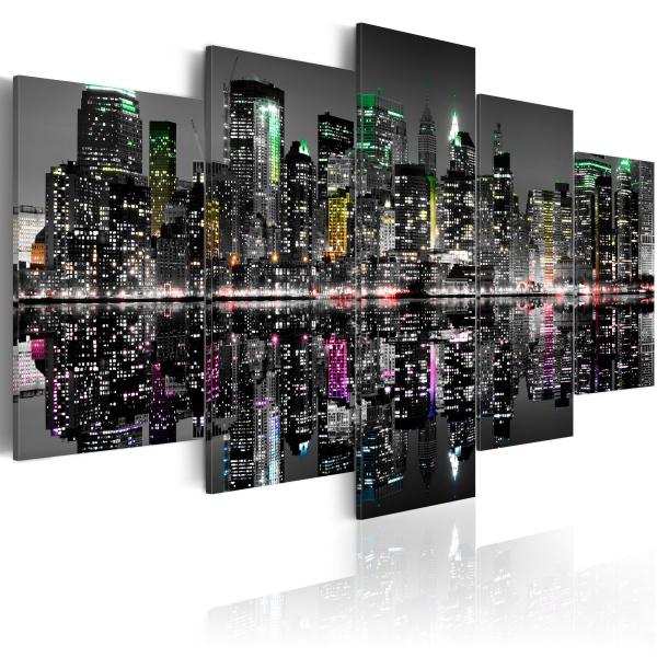 Obraz - Ukryte akcenty Nowego Jorku (100x50 cm) A0-N1755