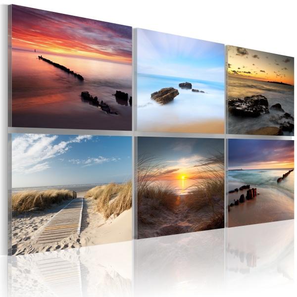 Obraz - Urok wybrzeża o różnych porach dnia (60x40 cm) A0-N1762