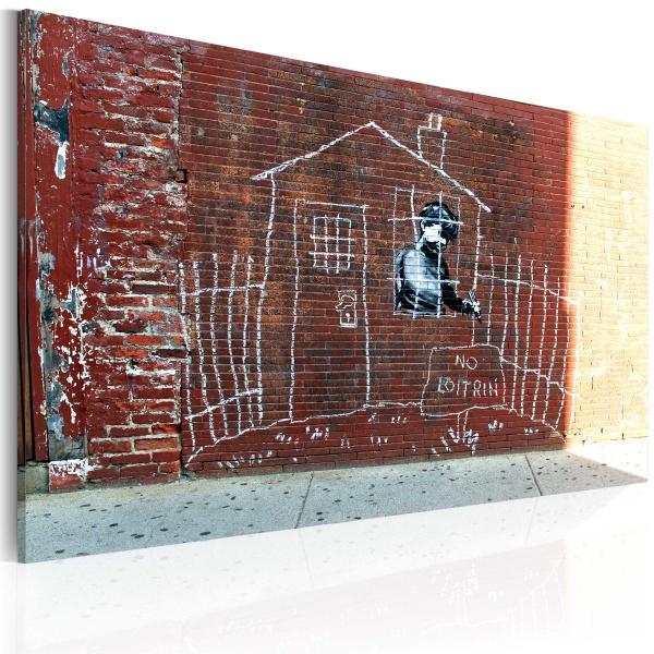 Obraz - Uziemiony (Banksy) (60x40 cm) A0-N1813