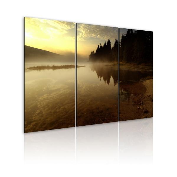 Obraz - Wieczorem nad brzegiem jeziora (60x40 cm) A0-N1573