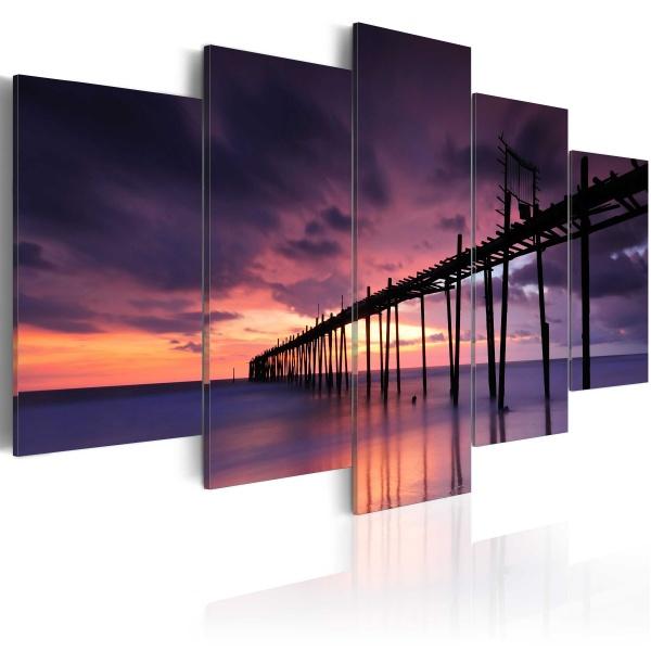 Obraz - Wybrzeże tuż przed zmrokiem (100x50 cm) A0-N1388