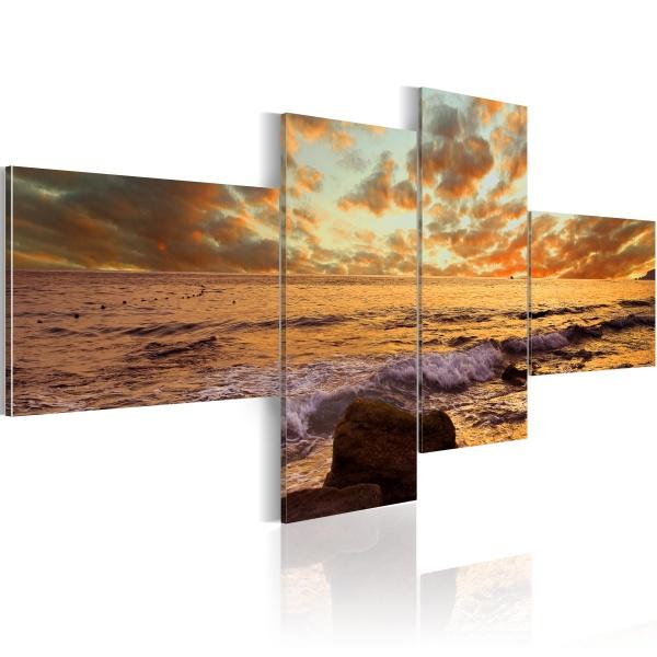 Obraz - Zachód słońca nad morzem (100x45 cm) A0-N1390
