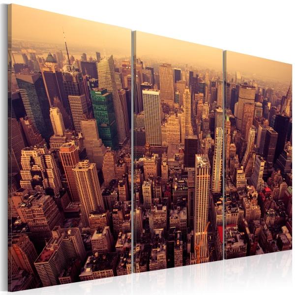 Obraz - Zachód słońca nad Nowym Jorkiem (60x40 cm) A0-N1385