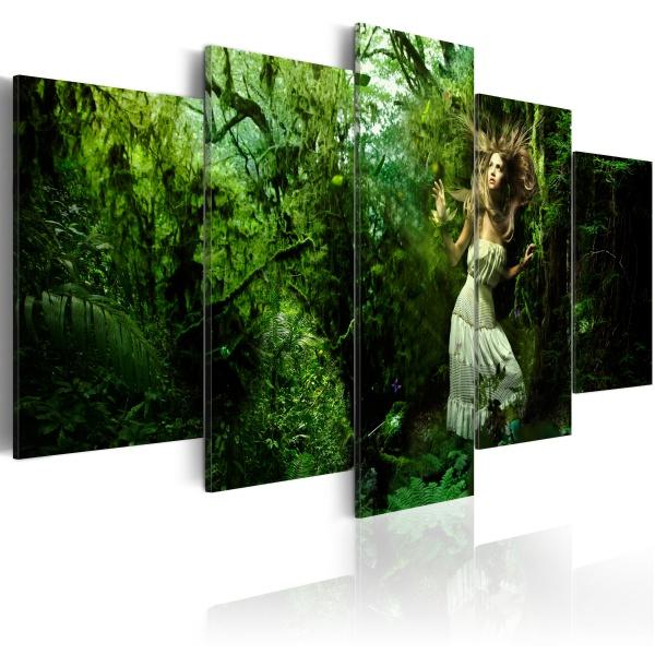 Obraz - Zagubiona w zieleni (100x50 cm) A0-N1435