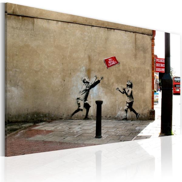 Obraz - Zakaz gry w piłkę (Banksy) (60x40 cm) A0-N1788