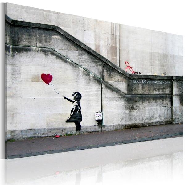 Obraz - Zawsze jest nadzieja (Banksy) (60x40 cm) A0-N1795