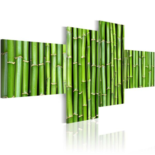 Obraz - Zielone łodygi bambusa (100x45 cm) A0-N1369