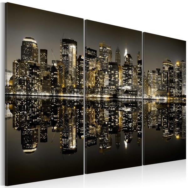 Obraz - Złoto Nowego Jorku (60x40 cm) A0-N1740
