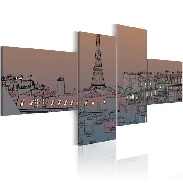 Obraz - Zmrok i Paryż (100x45 cm) A0-N1766