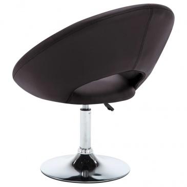Obrotowe krzesło do jadalni, ekoskóra, 74x63,5x89 cm, brązowe
