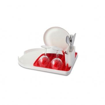 Ociekacz na naczynia Colori czerwony 23994