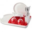 Ociekacz na naczynia czerwony  colori 3994