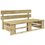 Ogrodowa ławka z palet, drewno FSC, zielona