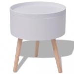 Okrągły stolik z tacą 39,5x44,5 cm biały