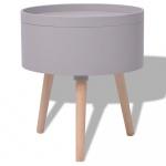 Okrągły stolik z tacą 39,5x44,5 cm szary