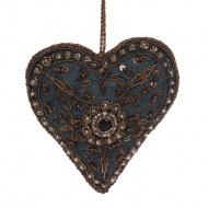 Ornament zawieszka serce 10 cm