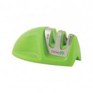 Osełka do noży dwustopniowa KitchenIQ Mini zielona