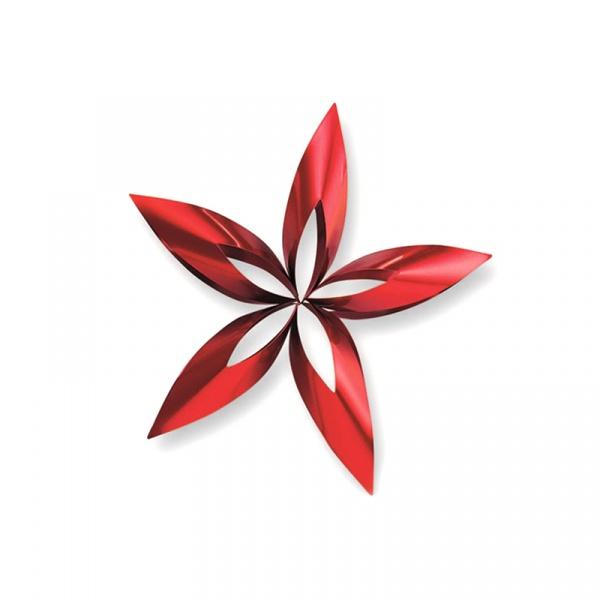 Ozdoba choinkowa L Philippi Stella gwiazdka czerwona 141014