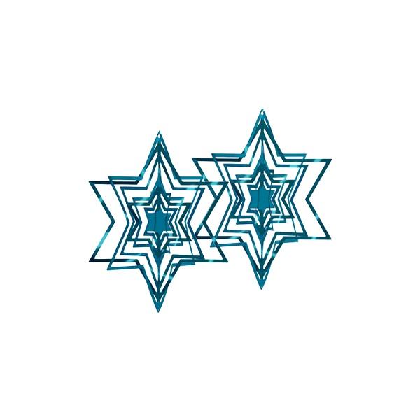Ozdoba choinkowa Philippi niebieska 2 szt. 141007
