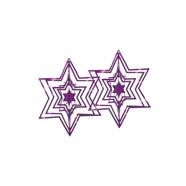 Ozdoba choinkowa Philippi purpurowa 2 szt. 141005