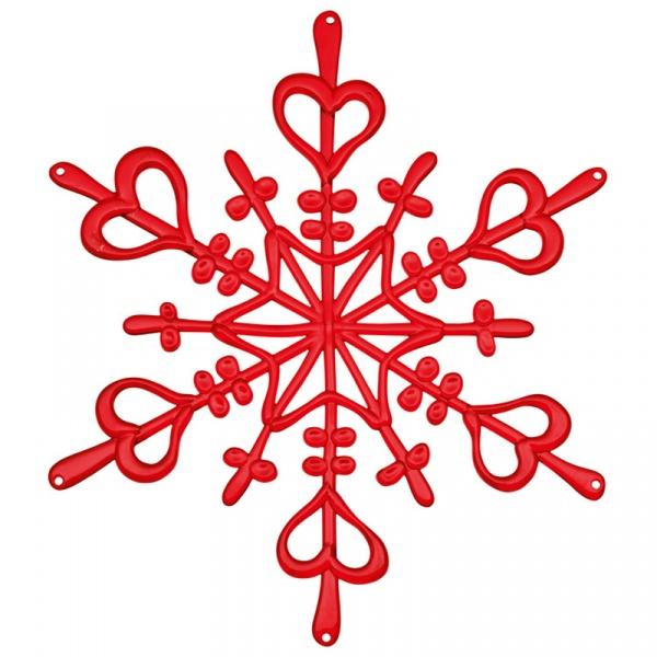 Ozdoba dekoracja świąteczna Koziol FLAKES czerwona L KZ-1125536