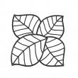 Panele dekoracyjne 4 szt. Koziol Leaf czarne KZ-2043526