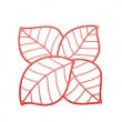 Panele dekoracyjne 4 szt. Koziol Leaf czerwone KZ-2043536