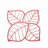 Panele dekoracyjne 4 szt. Koziol Leaf czerwone