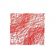 Panele dekoracyjne 4 szt. Koziol Silk czerwone