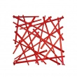 Panele dekoracyjne 4 szt. Koziol Stixx czerwone KZ-2037536