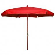 Parasol Ogrodowy Drewniany 300 cm : Kolor - Red
