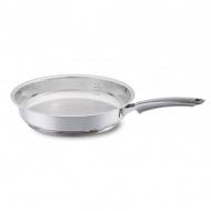 Patelnia 24cm Fissler Crispy Steelux Premium srebrna