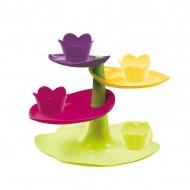 Patera piętrowa + 4 cupcake Zak! Designs multikolor