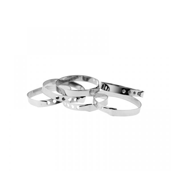Pierścienie do rolad 6 szt. Kuchenprofi srebrne KU-0924022806