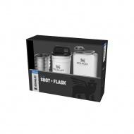 Piersiówka z 4 kieliszkami ADVENTURE - biała / Stanley