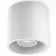 Plafon 10x10cm Sollux Lighting Orbis biały