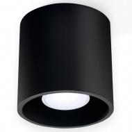 Plafon 10x10cm Sollux Lighting Orbis czarny