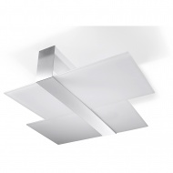 Plafon 11x50x66cm Sollux Lighting Massimo biały