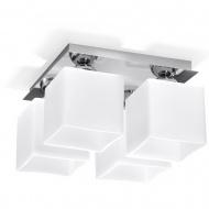 Plafon 18x30x30cm Sollux Lighting Piazza4 biały