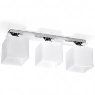 Plafon 18x50x12cm Sollux Lighting Piazza3 biały