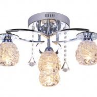 Plafon 25x47cm Lampex Venice 4 srebrno- przezroczysty