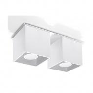 Plafon 26x10cm Sollux Lighting Quad 2 Biały