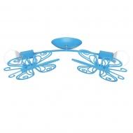 Plafon 66x32,5x20 cm Light Prestige Motylek niebieski
